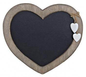 Memotafel Tafel Wandtafel Herz zum Hängen Holz Vintage Shabby Kreide