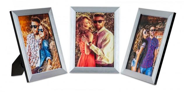 3er Set Bilderrahmen 15x20cm Aluminium Schwarz Fotorahmen Einzelrahmen Tischdeko