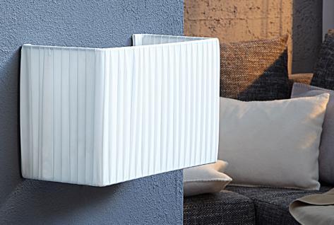 Lampe Wandlampe weiß Latex Wandleuchte Flurlicht Licht 20x30x15cm