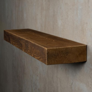 levandeo Wandregal Holz Massiv 100x20cm Nussbaum Farbig Wandboard Regal Vintage - Vorschau 3