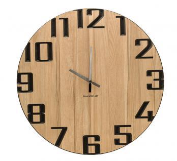 Wand-Uhr Holz 60cm Kernbuche Deutsche Herstellung modern Marke