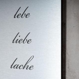 levandeo Wandbild Bild Schild Lebe Liebe Lache 20x30cm Alu Aluminium gebürstet - Vorschau 4
