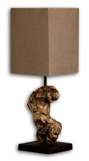 Lampe Tischlampe aus Holz Holzlampe Tischleuchte braun Treibholz 45cm