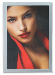 levandeo Bilderrahmen 20x30cm Alu Aluminium silber Fotorahmen Portrait Glas