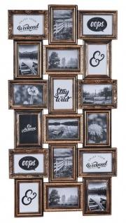 Bilderrahmen Schwarz Kupfer 18 Fotos 10x15cm Barock Fotorahmen Collage Galerie