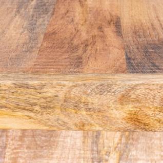 Beistelltisch Z Mango H60cm Holz Braun Natur Massiv Couchtisch Sofatisch Ablage - Vorschau 5