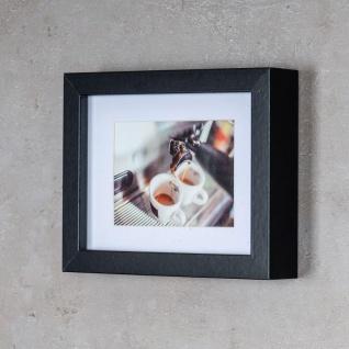levandeo 3er Set Bilderrahmen 9x13cm Schwarz Holz MDF Glasscheiben Rahmen - Vorschau 5