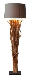 Lampe Stehlampe 175cm Holz Natur Grau Braun Holzlampe Unikat Treibholz Leuchte