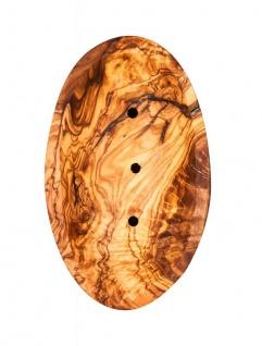 Olivenholz-Seifenschale ca.12x7cm oval Seifenhalter Badzubehör Holz Natur Unikat