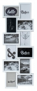 Bilderrahmen Weiß 12 Fotos 32x83cm Galerie Fotogalerie Collage Wanddeko