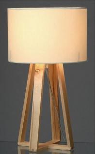 Tischlampe Holz Weiss 40cm Hoch Skandinavisch Tischleuchte Licht