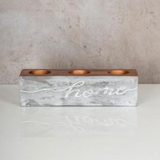 levandeo Teelichthalter Beton Kupfer Home 23x6cm Industrial Kerzenhalter Retro - Vorschau 2