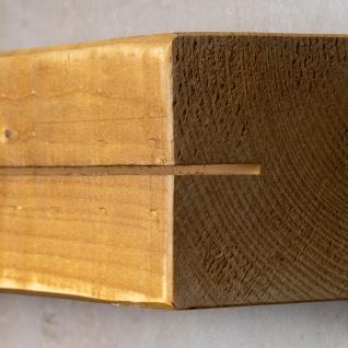 levandeo Schlüsselbrett Holz Massiv 35x10cm Eiche lackiert Schlüsselleiste Board - Vorschau 5