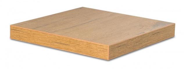 levandeo Eckregal Wildeiche 32x32cm Wandregal Holz Dekor Regal Eckboard Ablage - Vorschau 1