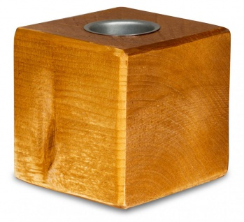 levandeo Teelichthalter Holz Massiv 10x10cm Teak Farbig Kerzenständer Rustikal
