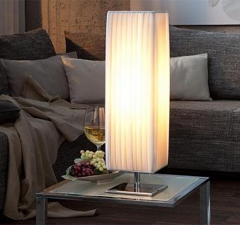 Nacht-Tischlampe Lampe in weiß Latex Leuchte Licht 15x60x15 Chrom - Vorschau 2