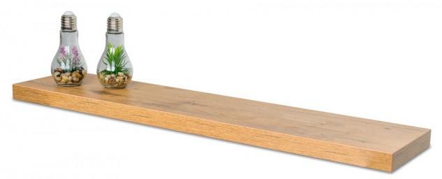 levandeo Wandboard Bobby 100cm Wildeiche Eiche Wandregal Regal Board Bücherbord - Vorschau 2
