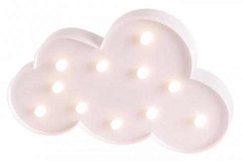 LED Wolke 29x18cm Weiß Lampe Leuchtbild Kinderzimmer Licht Dekoleuchte