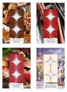 24 Kerzen 4x6 Stück Weihnachtsdüfte Weihnachtlich Duftkerzen Teelicht Tischdeko