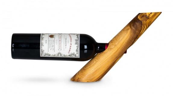 Weinflaschenhalter Holz Olivenholz H31cm Flaschenhalter Weinhalter Tischdeko