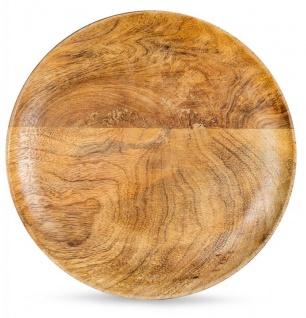 Holzschale Rund Mango Holz 30x30 cm Tischdeko Schale Obstschale Deko-Teller