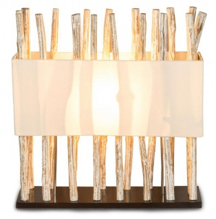 Lampe Tischlampe aus Holz Holzlampe Tischleuchte Treibholz 54cm hoch