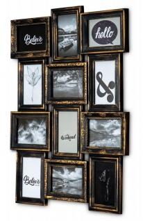 Bilderrahmen Schwarz Kupfer 12 Fotos 10x15cm Barock Fotorahmen Collage Galerie