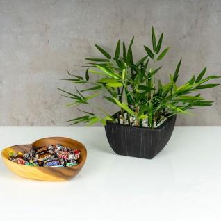 Schüssel Akazie 20x5, 5cm Herz Holz Schale Obstschale Obstkorb Brotkorb Design - Vorschau 5