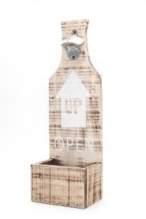 XXL Flaschenöffner für Wand aus Holz mit Spruch Bar Deko Wandobjekt