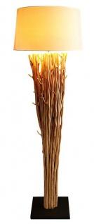 Lampe Stehlampe 175cm Holz Natur Beige Holzlampe Unikat Treibholz Leuchte
