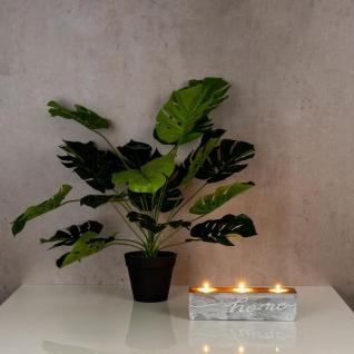 levandeo Teelichthalter Beton Kupfer Home 23x6cm Industrial Kerzenhalter Retro - Vorschau 4