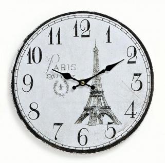 Wanduhr Holz Frankreich France Paris Eiffelturm - Küchenuhr Uhr 29cm