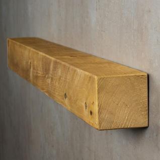 levandeo Wandregal Holz Massiv 100x10cm Eiche Farbig Wandboard Regal Vintage - Vorschau 3