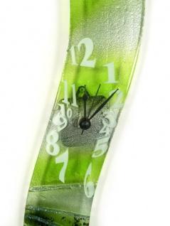 Design Wanduhr 50x8cm Verde Epoche aus Glas Glasuhr Unikat Handarbeit - Vorschau 3