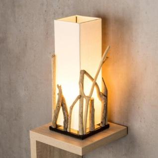 Lampe Tischlampe aus Holz Holzlampe Tischleuchte Treibholz 50cm hoch - Vorschau 4