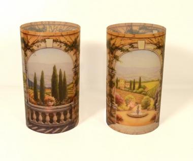 2er Set Kerzenschirme für Teelicht Windlicht - Landschaft