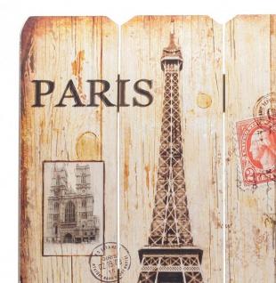 Holz-Schild Wandschild Paris France Schild Wandbild Eiffelturm Vintage - Vorschau 2