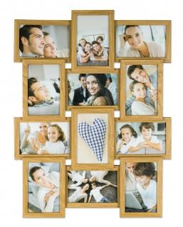 levandeo Bilderrahmen Collage 45x58cm 12 Fotos 10x15 Eiche MDF Holz Glasscheiben