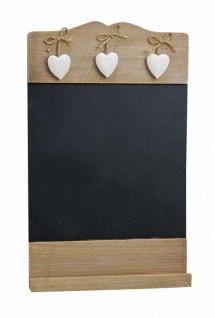 Memotafel Tafel Wandtafel mit Herzen aus Holz Vintage Shabby Kreide