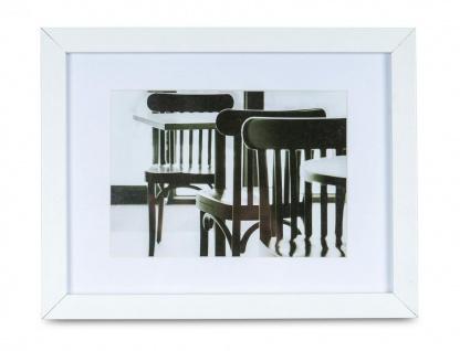 levandeo Bilderrahmen 13x18cm Weiß Holz MDF Glasscheibe Passepartout Rahmen - Vorschau 1