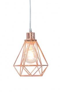 Lampe Hängelampe H20cm Kupfer Deckenleuchte Industrial Design Pendelleuchte - Vorschau 1