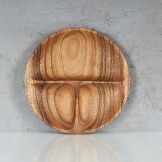 Snackteller 23cm rund Teller Holz Akazienholz Holzschale Snackschale Natur - Vorschau 2