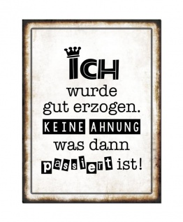 3er Set Wandbild Sprüche je 26 x 35 cm Blechschild Vintage Shabby Chic Wanddeko - Vorschau 4