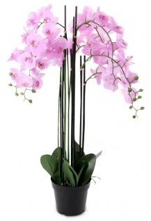 Pinke Orchidee 115cm Pflanze Kunstblume Kunstpflanze Dekoration Blume