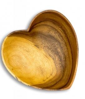Schüssel Akazie 20x5, 5cm Herz Holz Schale Obstschale Obstkorb Brotkorb Design - Vorschau 4