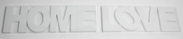 2er Set Buchstaben Bild Schriftzug Holz Love Home weiß shabby Deko