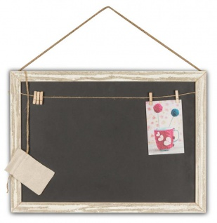 Rechteckige Memotafel 50x40cm Kreide-Tafel Holz Vintage Shabby Chic - Vorschau 1