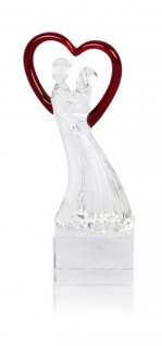 Designer Glas Skulptur 15, 5x5cm Hochzeit Liebe Deko Geschenk Unikat