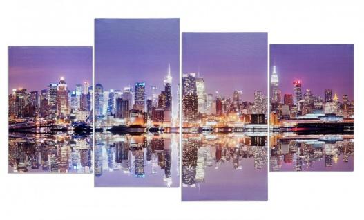 Wandbild 4 teilig Manhattan Skyline New York USA Amerika Bild Leinwand