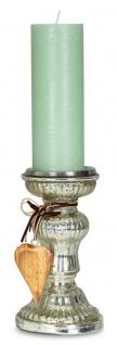 2er Set Kerzenständer H21cm H17cm Kerzenhalter Tischdeko Kerzenleuchter Deko - Vorschau 3